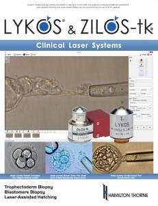 Lykos Zilos-tk - Clinical Laser Systems Brochure